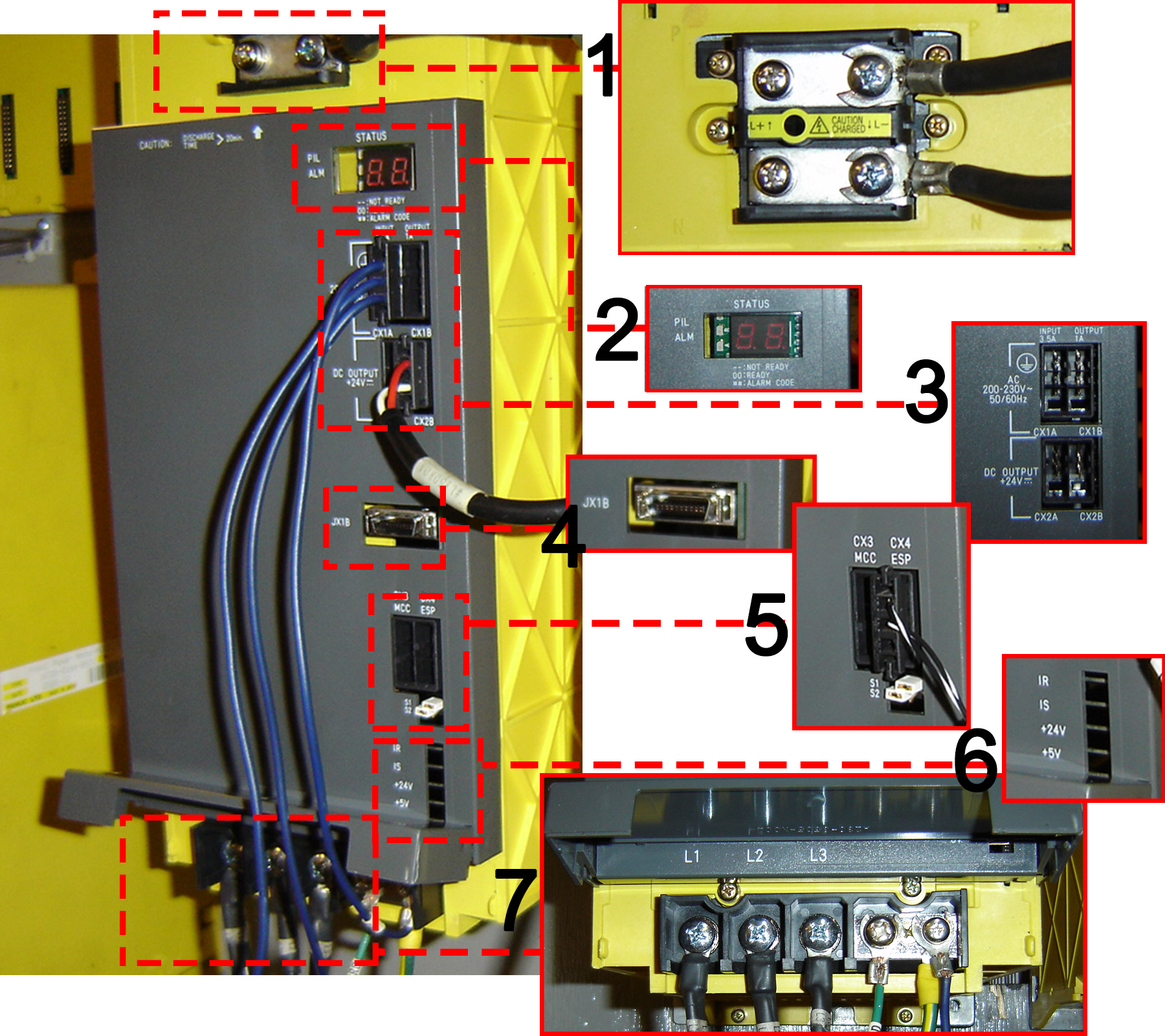 Diagram of Fanuc Power Supply A06B-6087