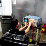 servo motor testing during repair